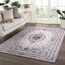 taleta aegean teppich orientalisch aubusson mit blumenmuster medaillon wohnzimmer beige 120x170cm