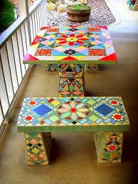 mosaic tile patio table 25 best ideas about mosaic tile
