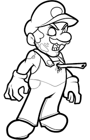 Download Coloring Pages Zombie Pictures Mario For Zombies