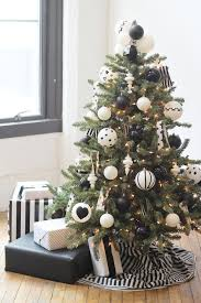 Modern Black White Christmas Tree