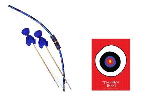 Two Bros Bows Blue Tie-Dye Archery Toy Set - 1 Bow, 2 Arrows, 1 Bulls-Eye