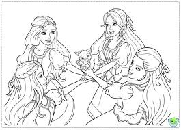 Barbie And Three Musketeers Coloring Pages Swear Together Bulk Color