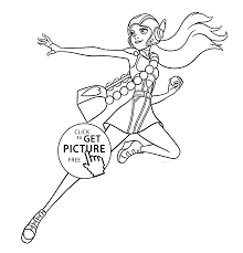 Honey Lemon Hero Coloring Pages For Kids Printable Free