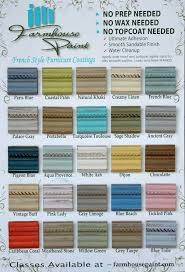 Farmhouse Paint Color Chart Single Step No Prep Wax 32 A Chalk Painted FurniturePaint Colors