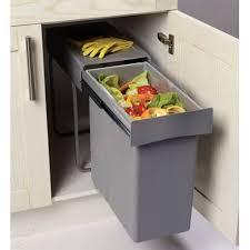 poubelle de cuisine coulissante monobac poubelle coulissante 1 bac 30l meuble cuisine accessoires de cuisines