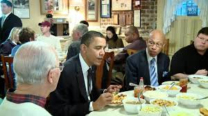 Mrs Wilkes Dining Room Menu by Raw Footage President Obama U0027s Surprise Lunch Stop Youtube