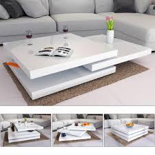 deuba couchtisch hochglanz weiß 360 drehbar cube design wohnzimmertisch beistelltisch design lounge tisch sofatisch