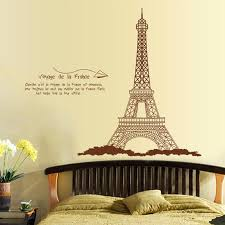großhandel die eiffelturm selbstklebende entfernbare wandaufkleber dekoration für schlafzimmer wohnzimmer kunst wandtattoo wandbild toto5 8 53