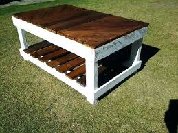 Coffee Table Out Of Pallets Tables Made From