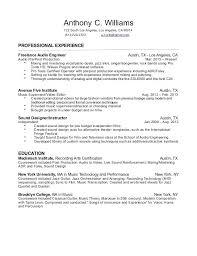 Post Production Engineer Sample Resume