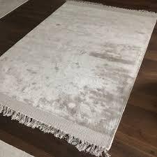 viskose teppich grau mit fransen 100 viskose 160x230 cm