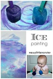 Winter Art Craft Ideas Preschoolers Arts And Crafts For Toddlers Painting Activities Infant Daycare Ice Taste