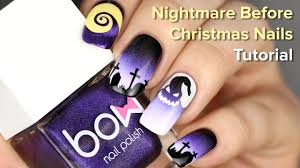 Oogie Boogie Halloween Stencil by Halloween Nails For Nightmare Before Christmas Movie Diy Nail Art