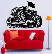 100 Monster Trucks For Kids Rooms Boys Bedroom Decor Wall Art Decoration Truck