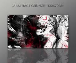 details zu designbilder wandbild abstrakt modern schwarz rot wohnzimmer kunst 130x70cm