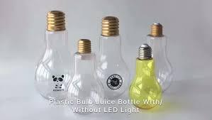 big pet plastic light bulb bottle 500ml for and boba tea