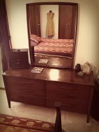 Broyhill Brasilia 9 Drawer Dresser by 1950 U0027s Broyhill Saga Low Profile Dresser With Matching Mirror