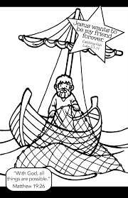 Fishing With Jesus Coloring Page