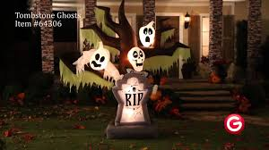 Gemmy Inflatables Halloween by Gemmy Animated Airblown Inflatable 64306 Tumbstone Ghosts