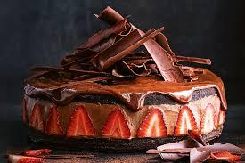 chocolate nutella strawberry cheesecake torte 1
