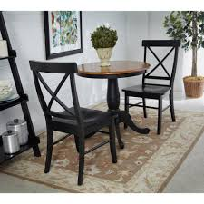 100 Dining Chairs Painted Wood International Concepts Black X Back Chair Set Of 2C46