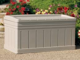 Extra Outdoor Storage Bench w Removable Storage Tray Put