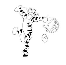 Tigger Easter Coloring Page