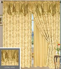 Priscilla Curtains With Attached Valance by Buy Luxury Jacquard Curtains Panels Drapes Window Set With