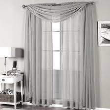 Bed Bath And Beyond Curtains And Drapes by Elrene Athena Rod Pocket Window Curtain Panels And Scarf Valance