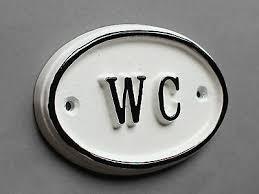 wc toilette tür schild damen herren badezimmer klo vintage