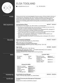 Resume Examples By Real People: Communications Officer ... Public Relations Resume Sample Professional Cporate Communication Samples Velvet Jobs Marketing And Communications New Grad Manager 10 Examples For Letter Communication Resume Examples Sop 18 Maintenance Job Worldheritagehotelcom Student Graduate Guide Plus Skills For Sales Associate Template Writing 2019 Jofibo Acvities Director Builder Business Infographic Electrical Engineer Example Tips
