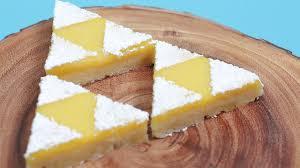 today i made zelda triforce lemon bars i really enjoy making