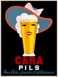 Cara Pils Beer Poster By Jacques Lambert 1930 France