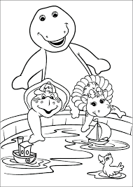 Barney Coloring Pages Colouring Book Free Pdf Full Size