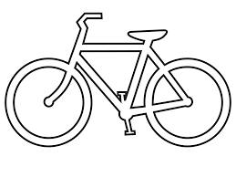 1969x1478 Clip Art Bicycle Route Sign Black White Line