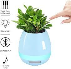 aodi musik blumentöpfe touch piano smart bluetooth lautsprecher pflanzenle echten pflanzen spieldosen licht ohne pflanze für schlafzimmer