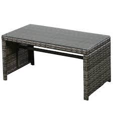 Patio Furniture Set Under 300 by Amazon Com Goplus 4 Pc Rattan Patio Furniture Set Garden Lawn