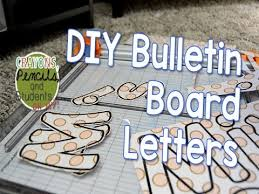 DIY Bulletin Board Letters