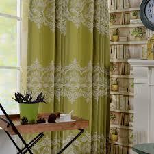 lucxus vorhang grün blumen jacquard im wohnzimmer