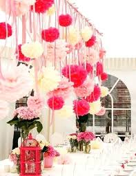 Hanging Pom Poms Tissue Paper Decoration
