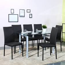 Flipkart Perfect Homes Luzon Glass 6 Seater Dining Set