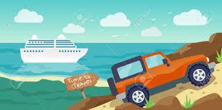 Travelling Banner Flat Illustration Business Travel Concept Stock Vector