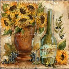 Image Of Sunflower Kitchen Wall Decor