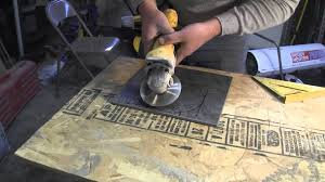 how to cut porcelain tile using an angle grinder
