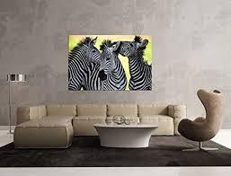 glasbild motiv zebra wohnzimmer modern querformat rechteckig