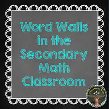 Blog post with tips on using a word wall in middle or high school