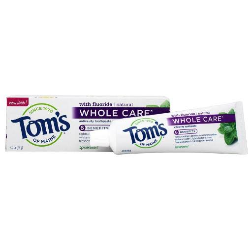 Tom's of Maine Whole Care Anticavity Toothpaste - Spearmint 4oz