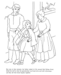 Little Red Riding Hood Fairy Tale Story Coloring Pages