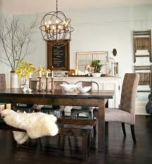 Dining Table Centerpiece Stunning Dark Wood With Bench Best