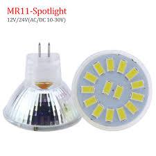 6x spotlight mr11 led bulb 5730 smd 12 15 leds 5w 7w lada led